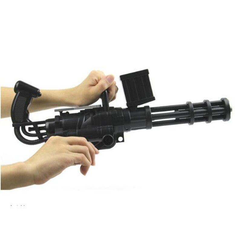 Руководство Серии пушки Гатлинга Мягкая EVA Пули пистолет водяной пули игрушечный пистолет моделирование модели детям играть на улице жить ...
