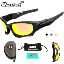 Queshark UV400 Polarized Fishing Glasses Outdoor Sports Cycling Sunglasses Ultra Light TR90 Frame Hiking Eyewear for Men Women