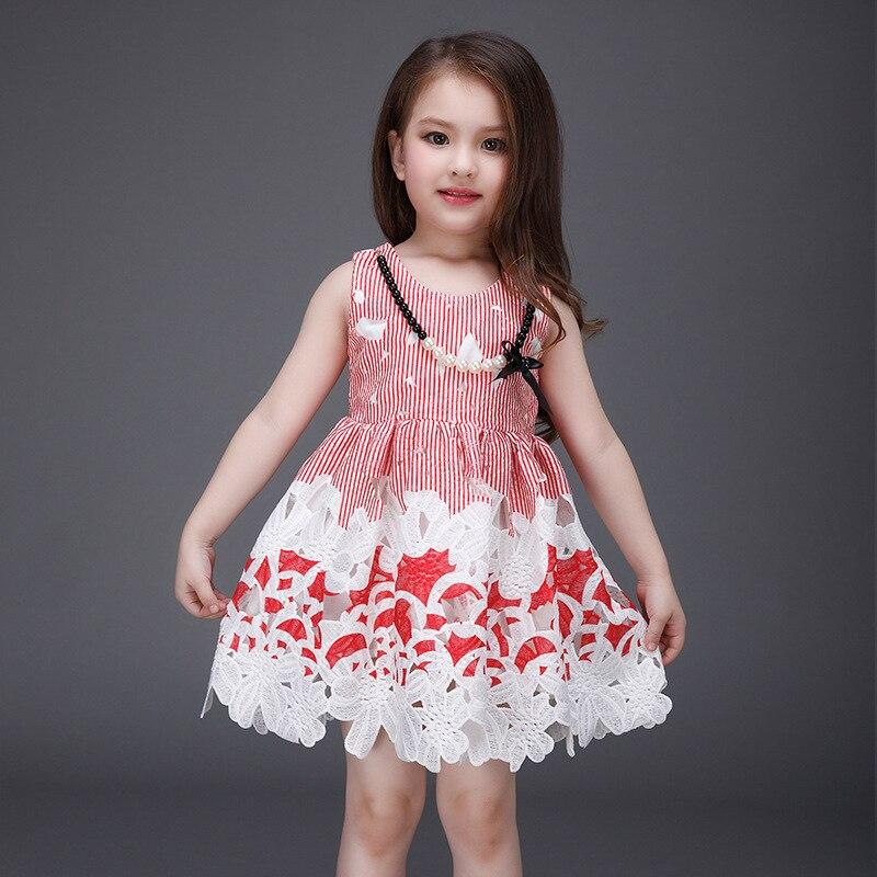 6pcs/lot fashion <font><b>race</b></font> <font><b>girl's</b></font> sleeveless Leisure temperament generous beautiful dress for party and outsides summer dress