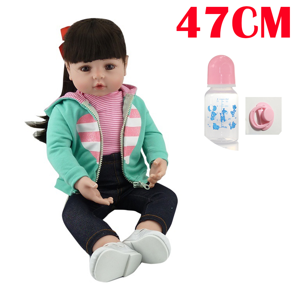 47cm Doll Reborn Baby Handmade top quality Lifelike 19inch modeling Toys bonecas play house princess for sale birthday gift47cm Doll Reborn Baby Handmade top quality Lifelike 19inch modeling Toys bonecas play house princess for sale birthday gift