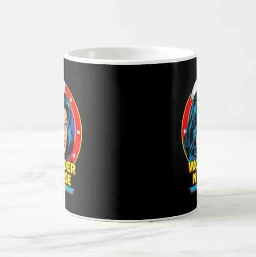 Funny Novelty Wonder Nurse Coffee Mugs Tea Cups For Nurses Coworker Gifts Modern Creative Hero