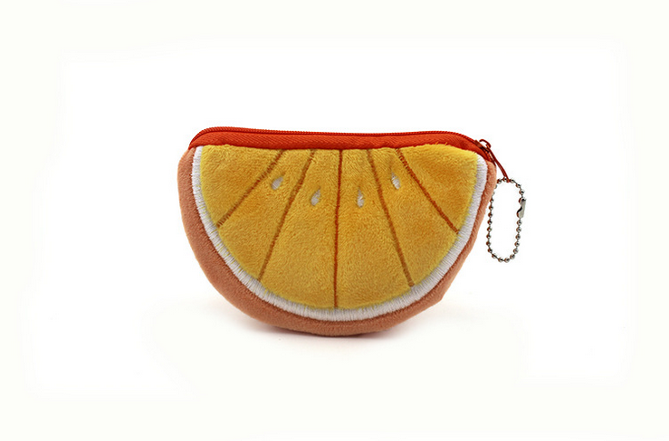 10Pcs/lot Beauty Orange Coin Purse Holder Handbag Wallet Pouch Case Bag Women Lady Bags Pouch
