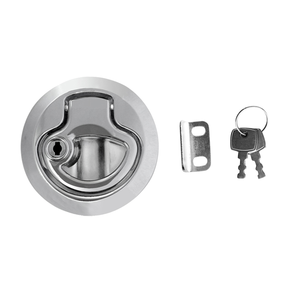 mount accessory 2? Flush Mount Hatch Flush Pull Latch Marine Key Door Locking Hardware Accessory For Boat Marine Yacht 2-12mm Thickness Door (5)