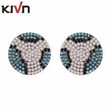 KIVN Fashion Jewelry Leopard Textured CZ Cubic Zirconia Womens Girls Stud Bridal Wedding Earring