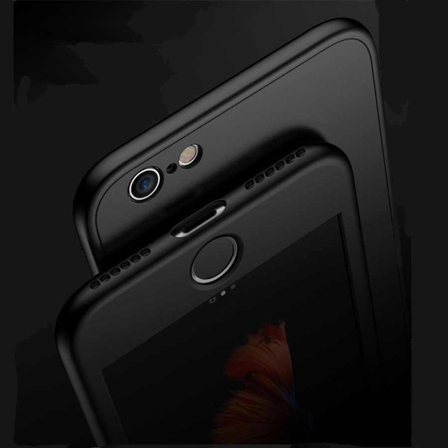 360 TPU Cover UNTUK iPhone 7 6 S 6 Case 5 5 S SE X Penutup Silikon Soft Case untuk iPhone 5 5 S 6 7 Plus Ponsel Case Fundas