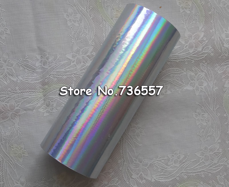 DIY Transfer Hot Stamping Paper High Quality Hot Selling Hot Foil Stamping Laser Silver Color 160mmx120M Heat Stamping Foil Film сабо ash ash as069amqvz59