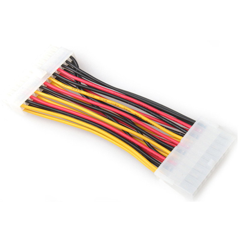 1Pc ATX <font><b>20</b></font> <font><b>Pin</b></font> To <font><b>24</b></font> <font><b>Pin</b></font> Female to Male Power Supply <font><b>Adapter</b></font> Cable for Laptop PC Computer image