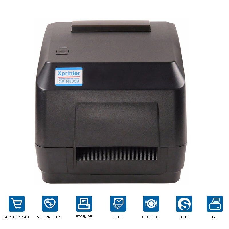 Xprint Thermal Transfer BarCode Printer With Max Printer Width 108mm Shipping Address Printer For Jewelry Tags Cloth