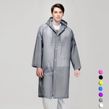 Men and Women Raincoat Waterproof Hooded Cover Quality Rain Poncho Coat Impermeable Cloaks Transparent Rainwear Wholesale