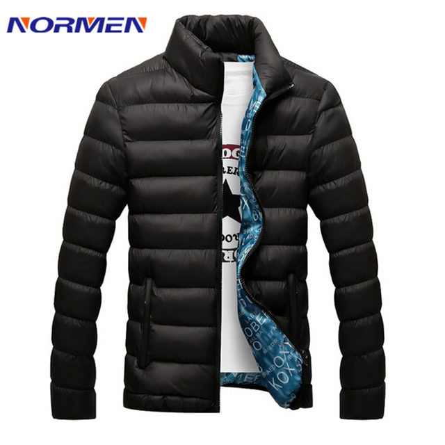 2017 Brand Clothing Mens Solid Casual Parkas Fashion Cotton Banded Collar Winter Jacket Men Streetwear Padded Overcoat Outerwear