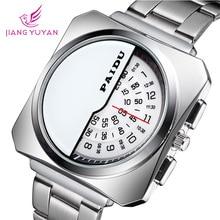 Marca de moda Casual Reloj de los Deportes de Los Hombres Relojes de Cuarzo Relojes Digitales Hombres de Acero Completo reloj de Vestir Relojes de Pulsera Relogio masculino