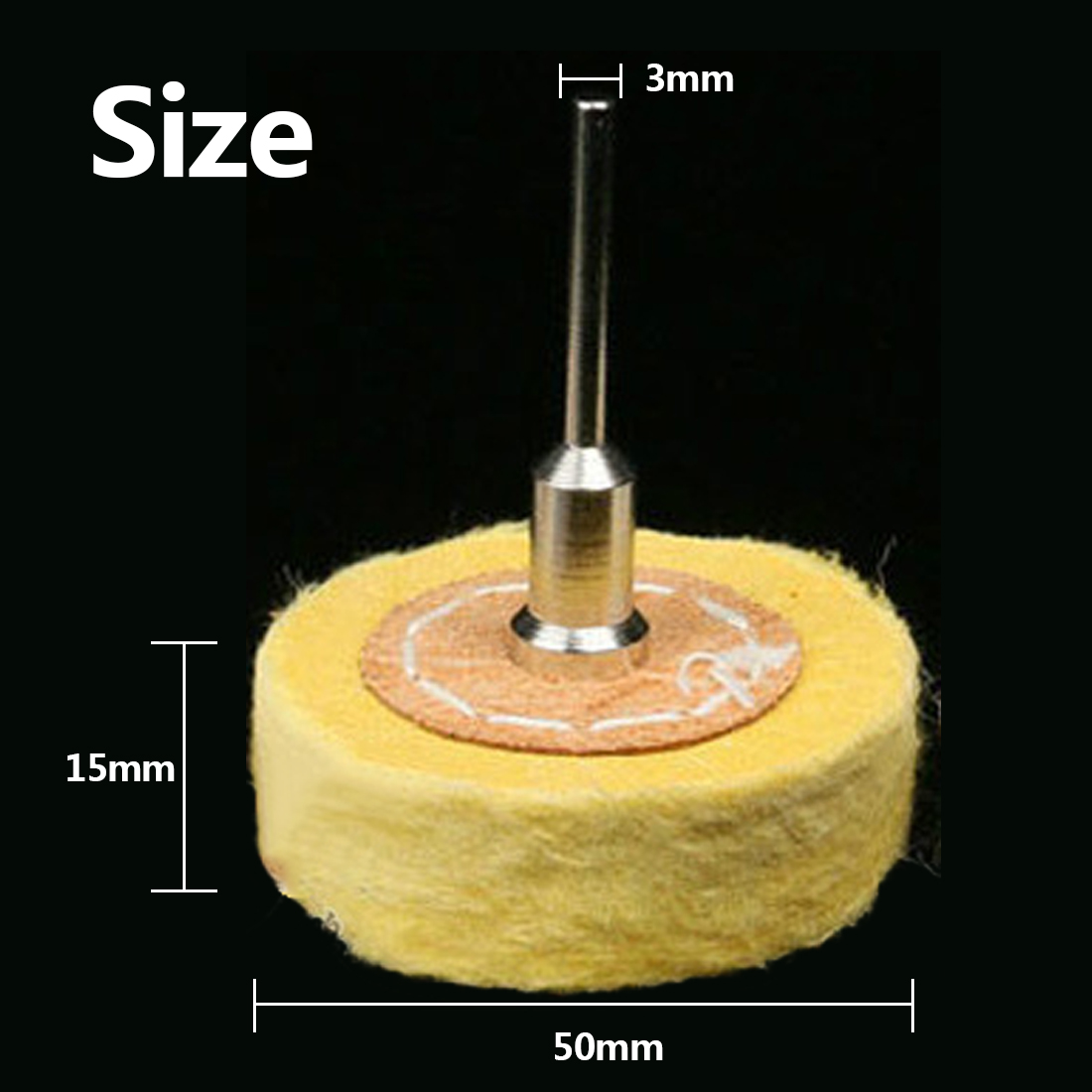 T Style Polish Buffing Wheel Grinding Head Cloth Dremel Wheel Grinder Brush For Rotary Abrasive Tools Dremel Accessories Shank