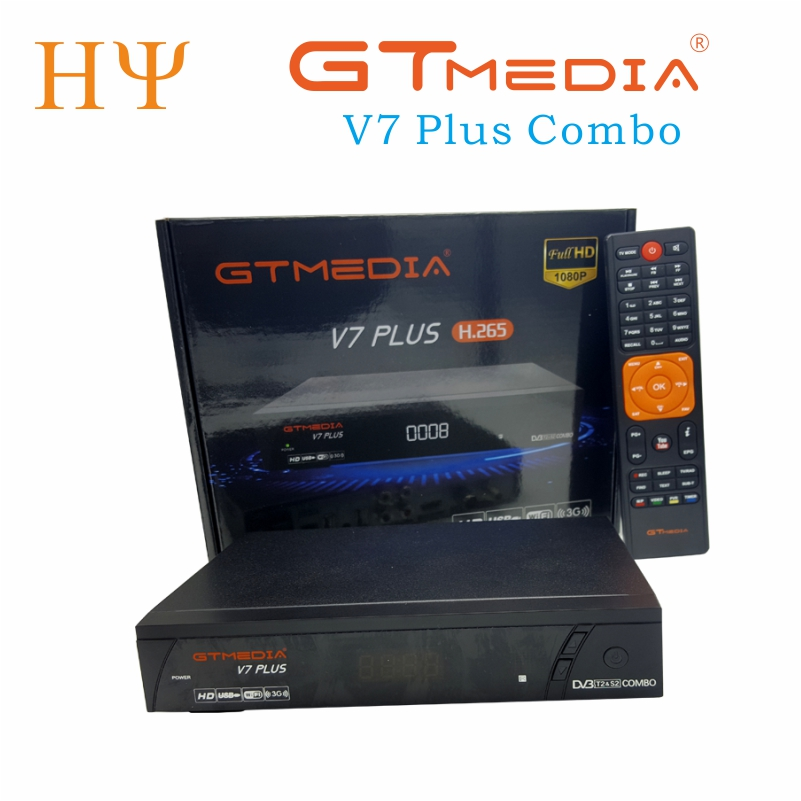 GTmedia V7 Plus Combo dvb-t2 dvb-s2 Satellite Receiver Suport H.265 PowerVu Biss Key Ccam Newam Youtube USB Wifi 1080P full HD hellobox gsky v7 5pcs hd powervu autoroll iks ccam dvb s2 receiver tv box better than freesat support tandberg patch