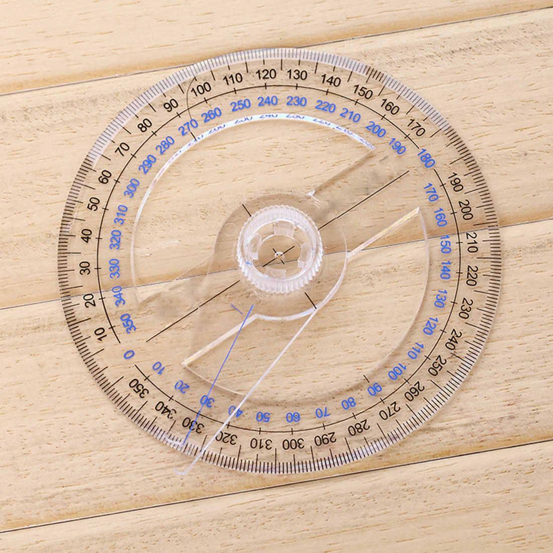 10 см пластик 360 градусов круговой указатель линейка транспортира Угол Finder