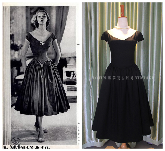 Vintage 50s Dresses Audrey Hepburn Fashion Design Images