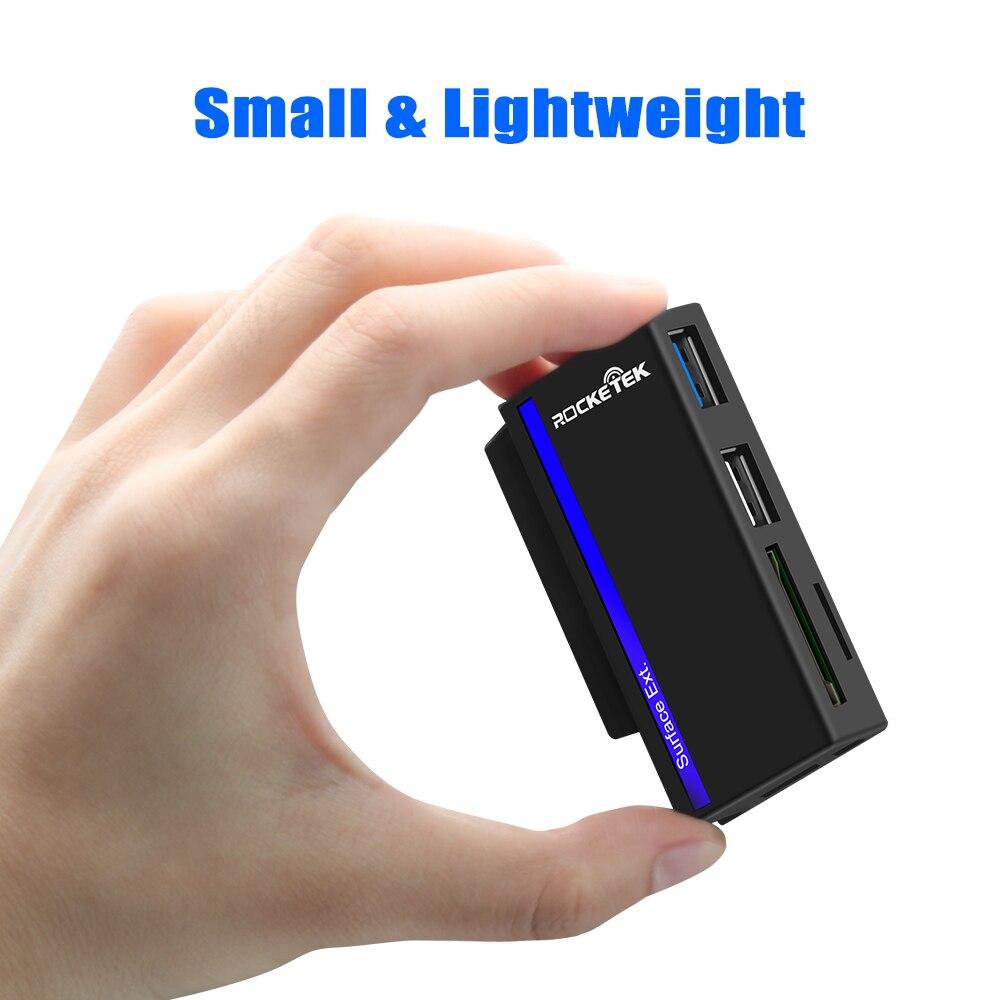 Image 5 - Rocketek USB type C 3,0 или 2,0 адаптер для чтения карт памяти для SD/TF micro SD Microfoft Surface go Hub компьютерные аксессуары-in Считыватели карт памяти from Компьютер и офис