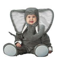 2018 Children Jumpsuits Elephant Onesie Kids Girls Boys Warm Soft Animal Cosplay Pajamas Halloween Costumes