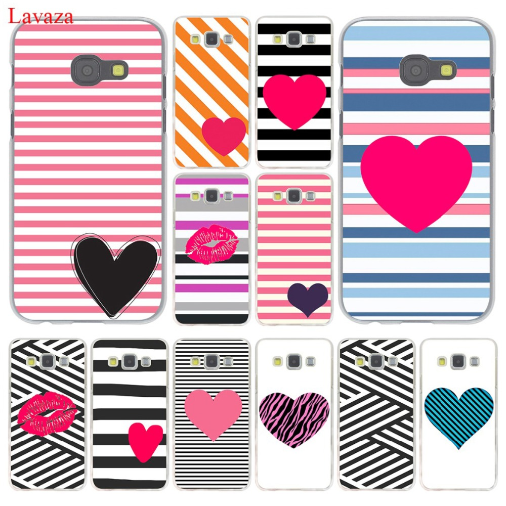 Lavaza Pink Stripes With Heart lips Case for Samsung Galaxy Note 10 9 - Mobile Phone Accessories and Parts