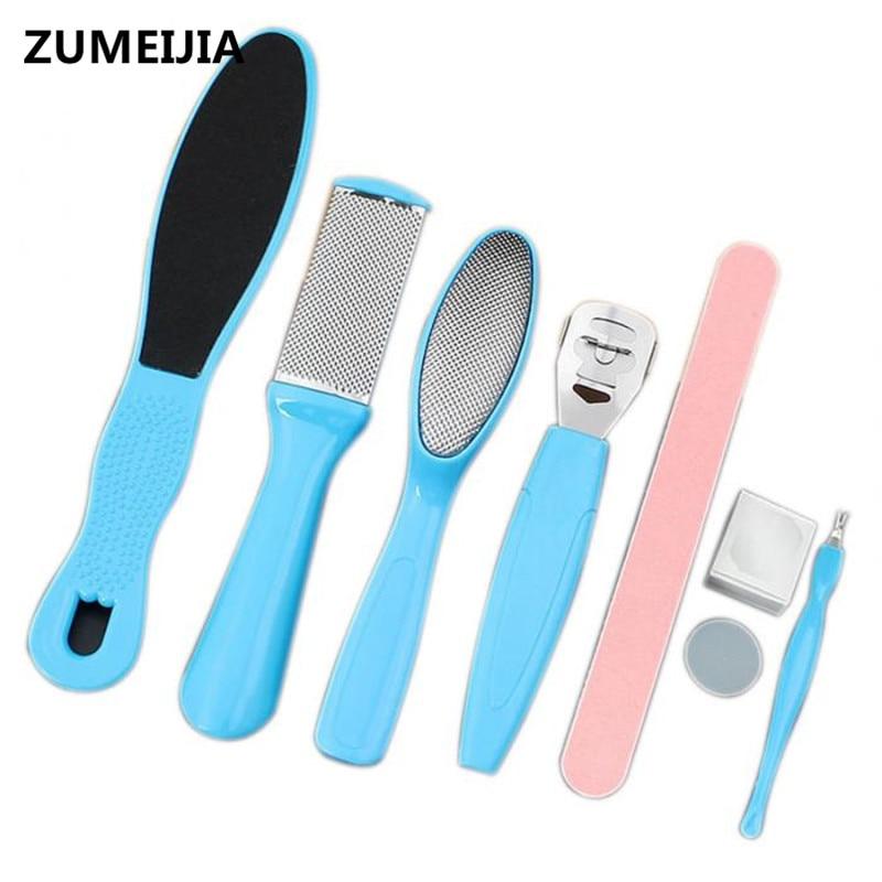 8 Pcs Lot Sholl Foot File Pedicure Tools Foot Care Tools