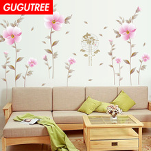 Decorate buttlefly leaf flower art wall sticker decoration Decals mural painting Removable Decor Wallpaper LF-1803
