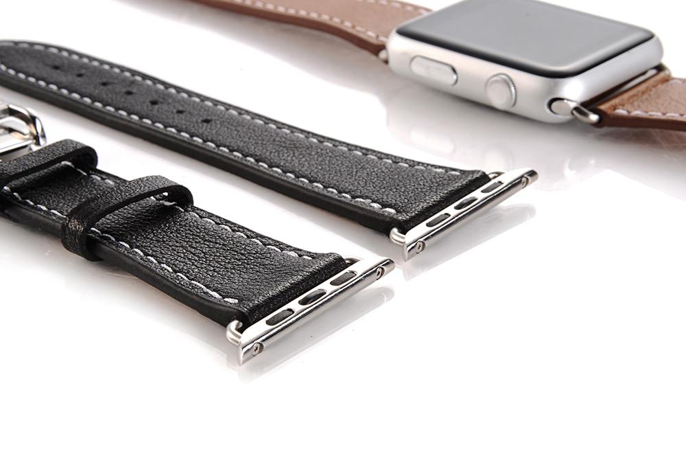 Bracelet Boucle Papillon Apple Watch Cuir véritable