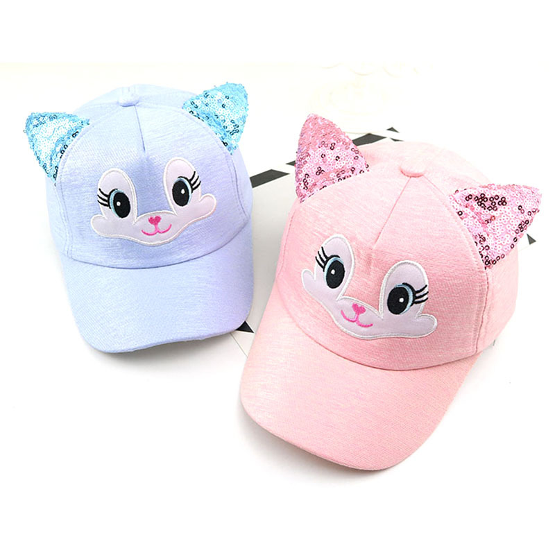 Baby Boy And Girl Hats Cute Baby Cartoon Cat Ear Cap Spring And Summer Travel Baseball Caps Snapback Newborn Photography Props