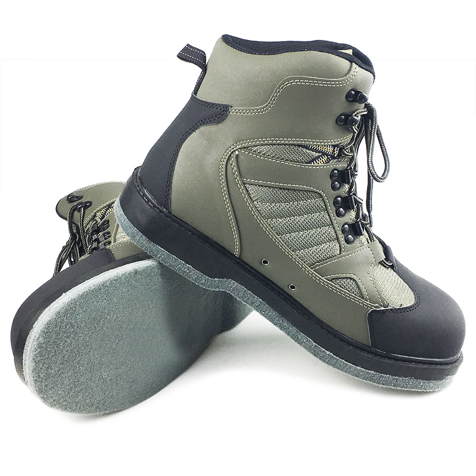 Fly Fishing Wading Shoes Felt Sole Waders Aqua Upstream Hunting Sneakers Boot Breathable Rock Sport No