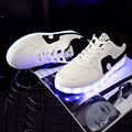 2016 Couple Men Colorful Glowing Shoes Lights Up Led Luminous Shoes A New Simulation Sole Led  For Adults Neon Basket 65 zyh