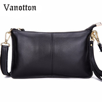 2016 Genuine Leather Women Clutch Bags Cowhide Envelope Organizer Purse Evening Party Handbags Ladies Small Shoulder