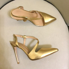 Women's sexy pointed toe high heeled pumps high quality real leather high heels shoes women party shoes EU35-41 size BY659 ladies real genuine leather high heel shoes women brand sexy pointed toe heels fashion pumps lady heeled shoes size 34 39 r08358 page 3