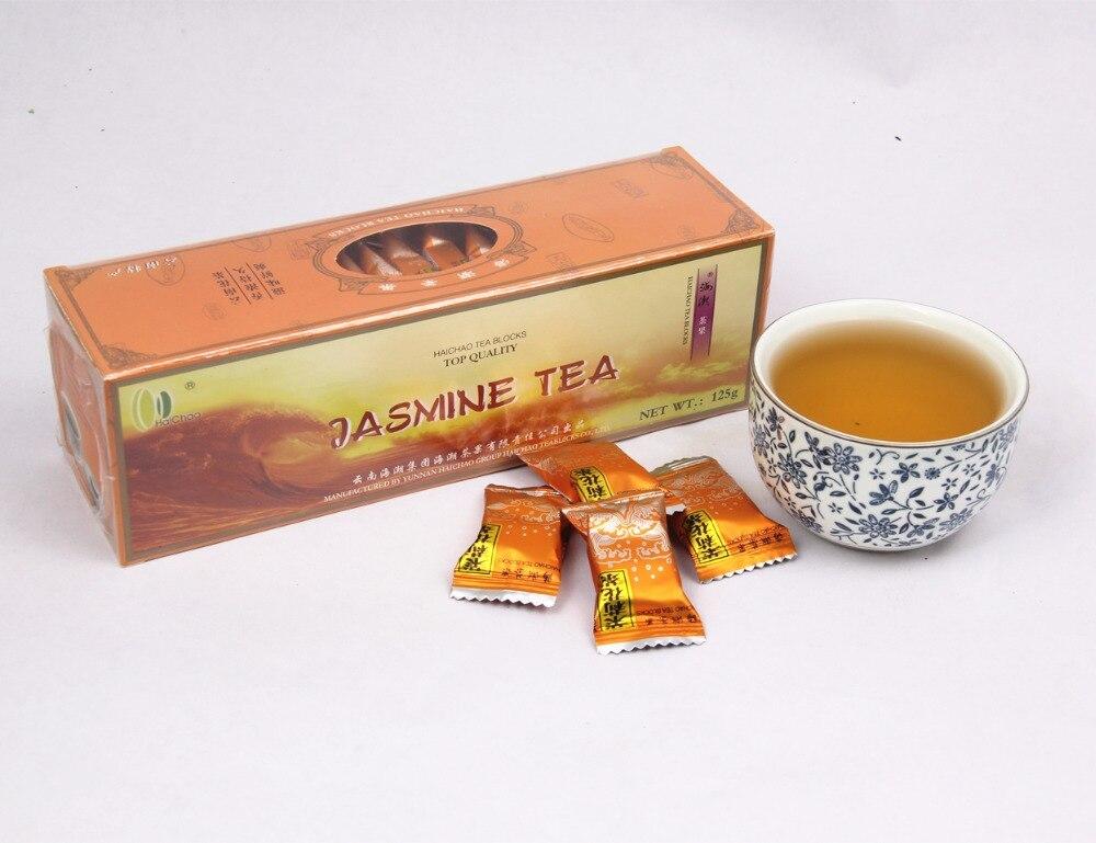 Spring Organic chinese-puer-tea Jasmine tea 125g Freshest Organic Food Green Tea flower teas Health Care Weight Loss free shipping jasmine 30g tank flower tea green tea chinese tea