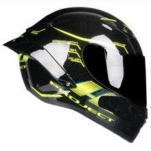 Полнолицевая Каско Capacete гоночный мотоциклетный шлем Kask горные DOT ECE 22 утвержден 2D замок с спойлером моторчик шлем
