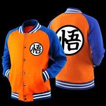 Japanischen Anime Dragon Ball Z Goku Saiyan Varsity Jacke Herbst Beiläufiges Sweatshirt Hoodie Mantel Jacke Marke Baseball Jacke