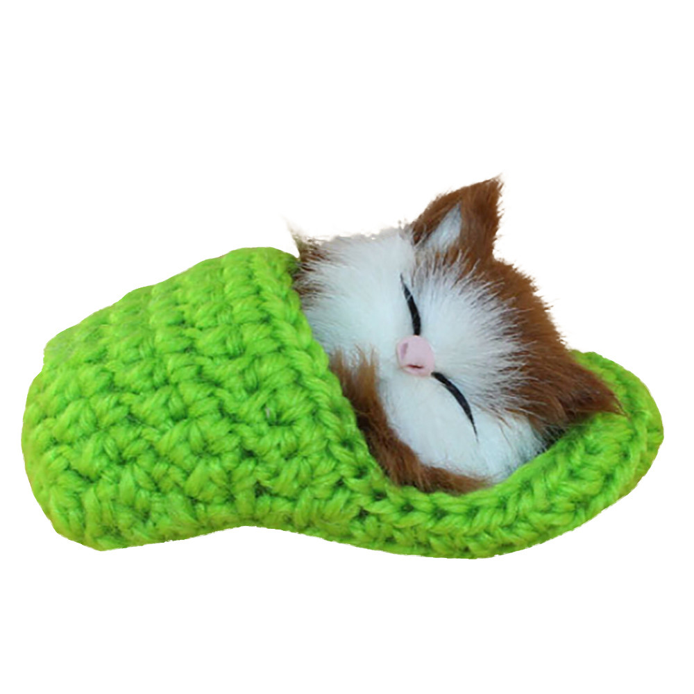 2018 Popular Car-styling Durable Solar In Stock Simulation Cat Vocalize Meow Meow Slippers Kitten Plush Toys Doll  Car Decor P#