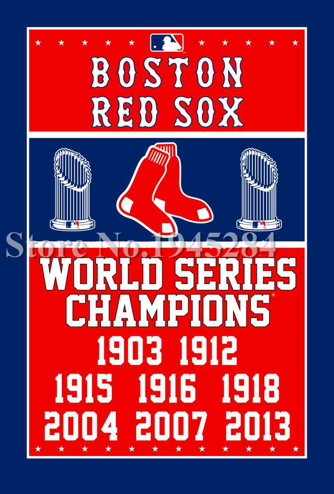 MLB Boston Red Sox World Series Champions Flag Banner New 3x5ft 90x150cm Polyester Flag, free shipping