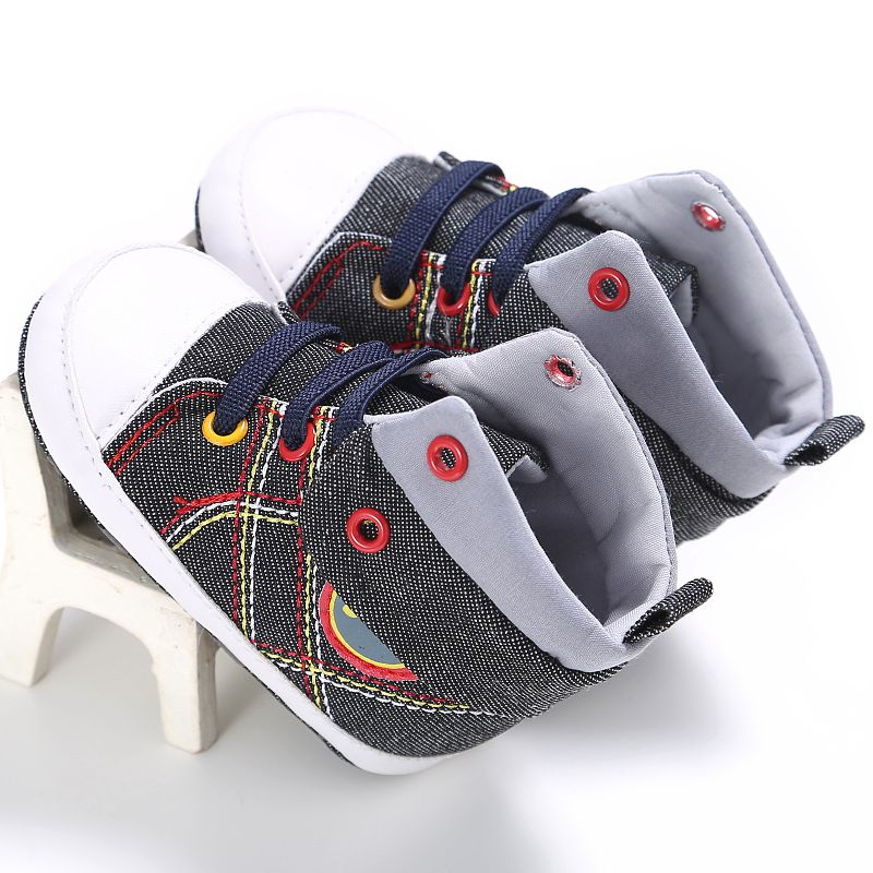 Baby Boys Canvas Shoes Toddler Infant Sneaker Soft Bottom Baby First Walkers 0-18 Month