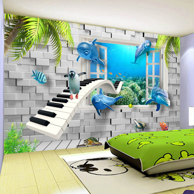 bedroom 3d wall creative underwater mural backdrop modern children painting wallpapers zoom decor attractive tips simple enfant papier peint tanveer