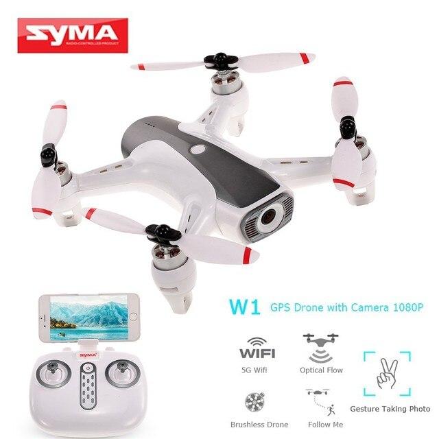 Syma W1 Drone Gps 5g Wifi Fpv z 1080p Hd regulowana kamera za mną tryb gesty zdalnie sterowany Quadcopter Vs F11 Sg906 Dron