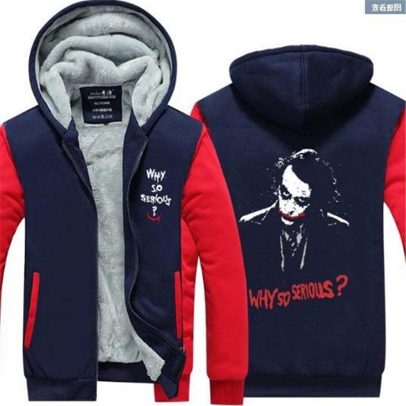 Free shipping European size Suicide Squad Joker Unisex printing Hoodie Zipper Coat Clothing Jacket