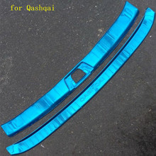 цена на Car accessories stainless steel Rear Bumper Protector Sill Trunk Tread Plate Trim for Nissan Qashqai J112016-2017 Car styling