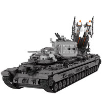 KV 2 Танк набор xingbao 06006 3663 шт. Творческий Moc Военная Униформа серии дети учебного Конструкторы кирпичи Игрушечные лошадки для детей