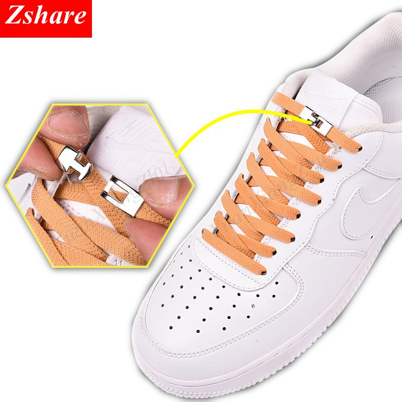 New Elastic Cross Buckle ShoeLaces Kids Adult Unisex Sneakers 1 Second Shoelace Quick No Tie Shoe Laces Lazy Laces Strings