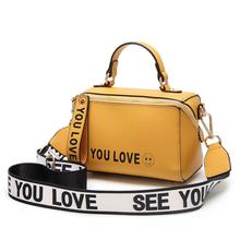 Brand Women Yellow Boston Handbag Purse 2019 New Fashion Ladies Hand Bags Small Totes Summer Shoulder Crossbody Bags for Women