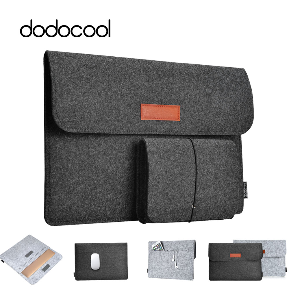564ca20ba4 Dodocool Soft Sleeve Laptop Bag Case For Apple Macbook Air Pro Retina 11 12  13 Laptop Anti-scratch Cover For Mac Book 13.3 Inch