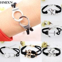 Anchor Fashion Bracelet Wholesale Women Retro bangles Love Handmade Alloy Rope Charm Jewelry Weave Bracelet Harry Potter Gift(China (Mainland))
