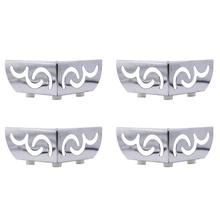 4 pcs di Carico Pesante cuscinetto Mobili Gambe Openwork Modello In Metallo piedi Armadio Cromo Placcato Triangolo Divano TV Cabinet gambe