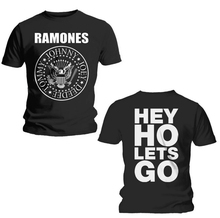 Mens Fashion Clothing Tees RAMONES Hey Ho Let's Go T shirt Black(China)