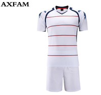 Free Shipping Men Sports Football Suit Jersey Shorts Training Uniform Running Soccer Set Breathable Customizable Size