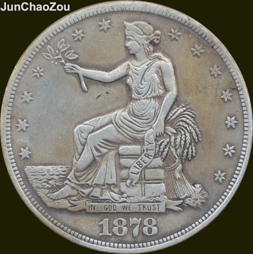 United Statesof America 1878 Seated Liberty Brass Silver