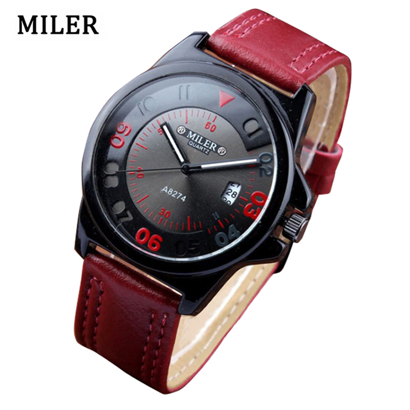 Fashion Brand MILER Sport Kvinnor Klockor Casual Analog Display Quartz Dress Watch Ladies Hour Relogio Feminino erkek kol saati